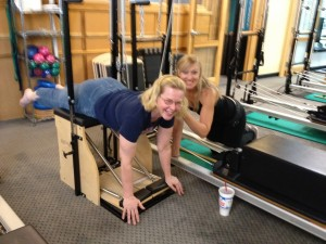 Annalisa and Lisa at Pilates 1901