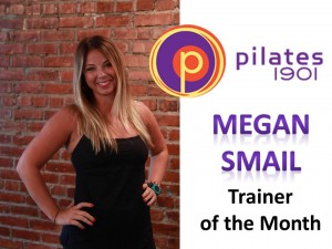 megan smail trainer of the month pilates 1901